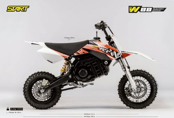 2021 YCF W88E Elektro Pitbike