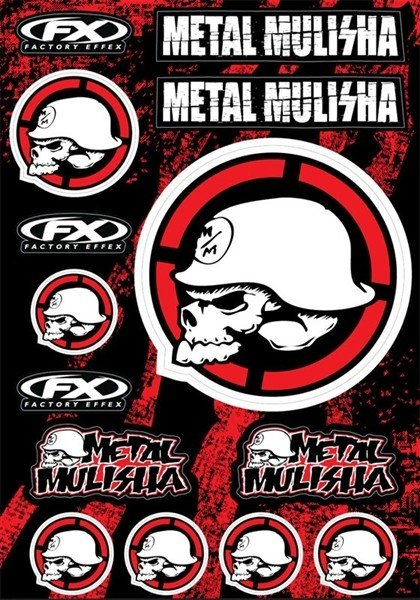 STICKERSET METAL MULISHA 14-68052