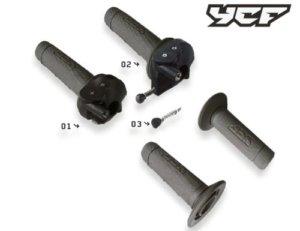 YCF Gasgriffe YC110-0138-03 | YC110-0138-04 einstellbar